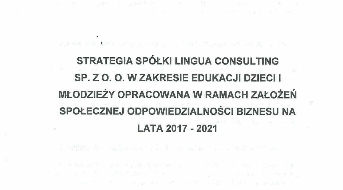 Strategia Spółki CSR-1